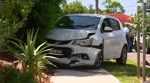 Police allege the teen was in the stolen white Holden with another person when it crashed on Cilento Crescent, Ea