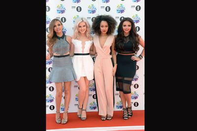 Little Mix before the Marilyn moment...