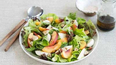 "Click here for our sensational and summery <a href=""http://kitchen.nine.com.au/2016/05/04/15/58/nectarine-salad"" target=""_top"">nectarine salad </a>recipe"