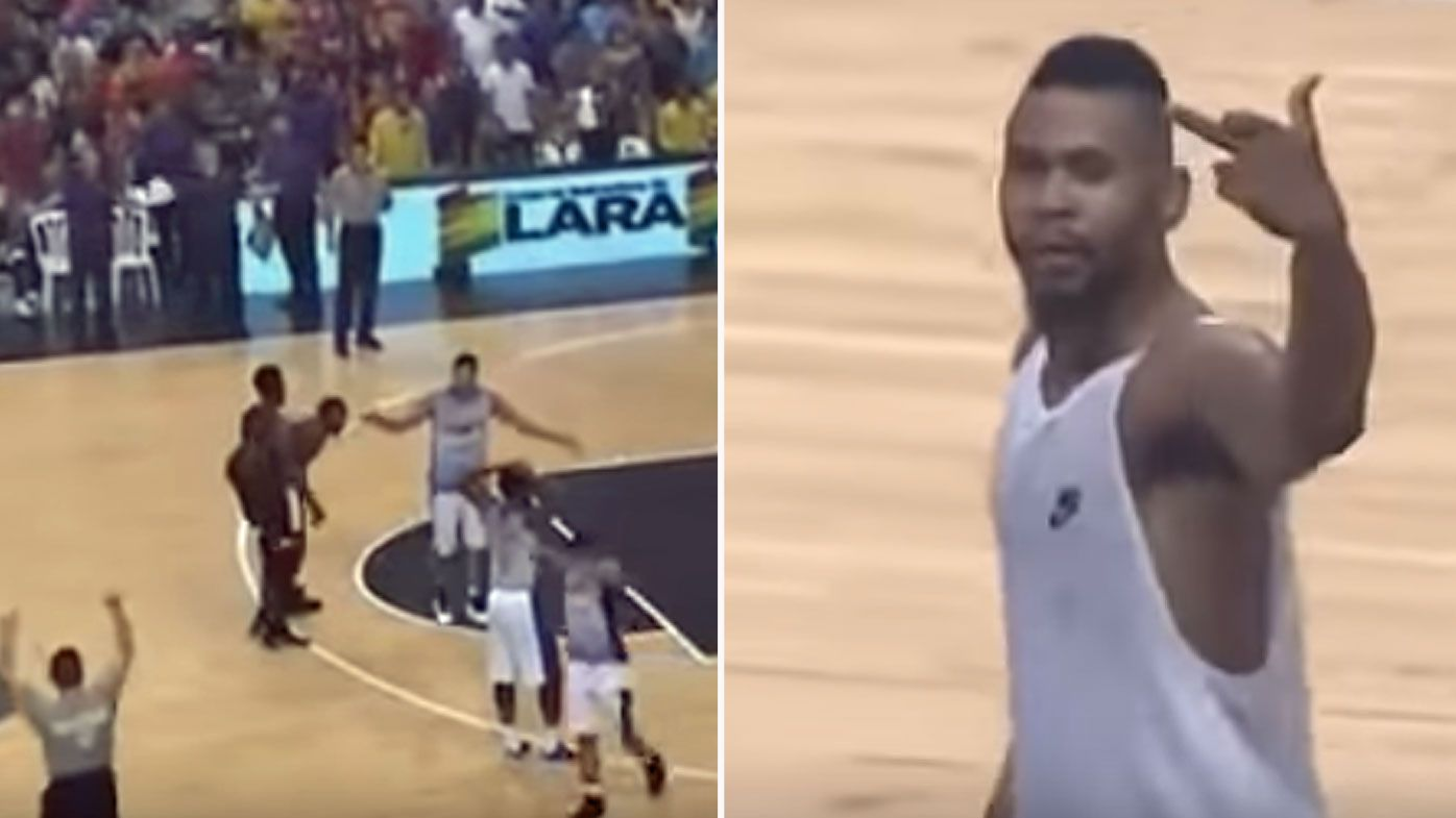 Basketballer Terrell Stoglin reacts furiously to ejection, kicks ball out of the stands, flips the bird