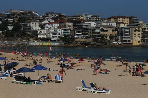 If you're planning to wave goodbye to summer at Bondi Beach this weekend, don't forget your umbrella. (AAP)