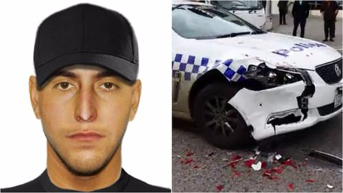 Man wanted after ramming into police car in Melbourne's north