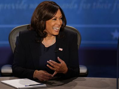 Kamala Harris during the vice-presidential debate, October 7 2020