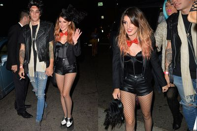Can someone please explain Shenae's costume to us? <br/><br/>The <i>90210</i> star and her model hubby Josh Beech partied at Hollywood's Hyde cocktail bar.