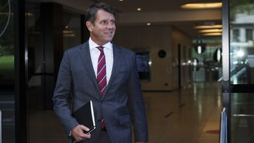 Mike Baird departs ICAC today, after telling the inquiry he was 'incredulous' over Gladys Berejiklian's secret relationship.