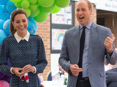 The Duke and Duchess of Cambridge at tea party to thank NHS workers.