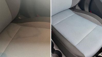 Woman gets her car seats looking brand new after nasty spill