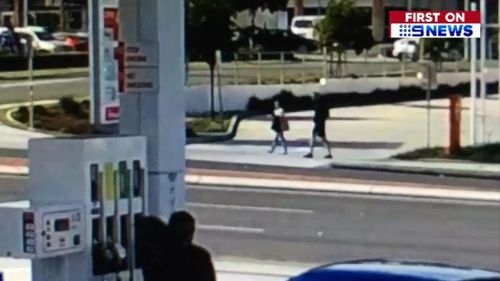The pair were caught on CCTV in the area earlier in the day. Picture: 9NEWS