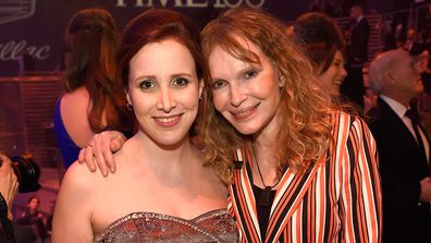 Dylan Farrow with her mother, Mia Farrow, at the Time Gala in 2016