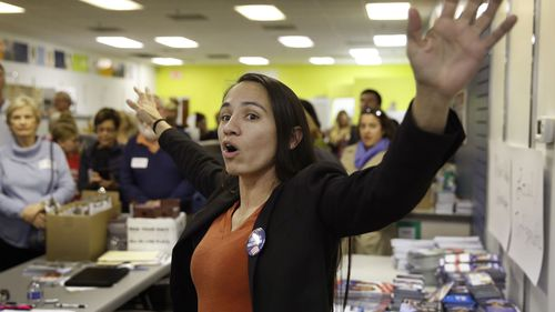 Kansas congressional candidate Sharice Davids would be the first Native American woman elected to the House of Representatives.