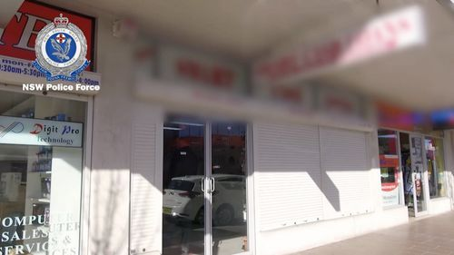 Police yesterday raided a pawnshop in Fairfield in south-west Sydney.