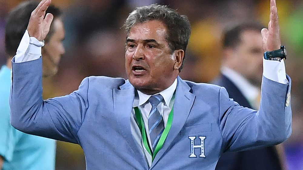 Honduras coach Jorge Luis Pinto and captain Maynor Figueroa's bitter reaction after loss to Socceroos