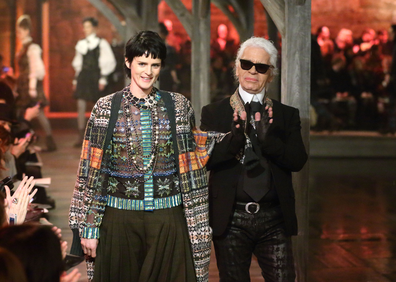 Stella Tennant and Karl Lagerfeld