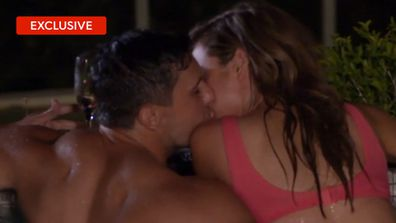 Exclusive: Kerry and Johnny's steamy night-time swim