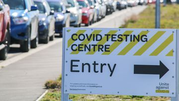 CHRISTCHURCH, CANTERBURY, NEW ZEALAND - 2021/08/21: Vehicles seen in a queue at an Orchard Rd testing station in Christchurch. As of today, there are 21 new cases of COVID-19 bringing the total to 51 Covid-19 cases in Auckland. Prime Minister Jacinda Ardern yesterday placed areas outside Auckland and Coromandel into a further lockdown until 11.59 pm on Tuesday. (Photo by Adam Bradley/SOPA Images/LightRocket via Getty Images)