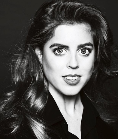 Princess Beatrice sits for a portrait with famed photographer Philip Poynter, shared on Instagram.