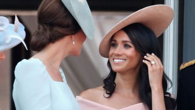 Kate and Meghan attend Trooping the Colour, June 2018