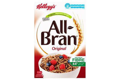 Kellogg's All Bran: almost 2 teaspoons of sugar