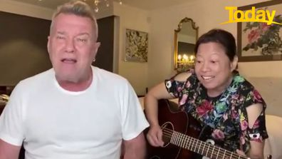 Jimmy Barnes and his family posted covers of iconic songs to Twitter during lockdown in order to connect with people who were struggling.