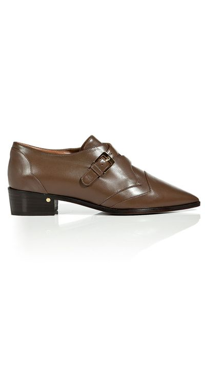 "<a href=""http://www.stylebop.com/au/product_details.php?id=562795&amp;special=sale"" target=""_blank"">Pointed Toe Buckle Brogues, $406, Laurence Dacade</a>"