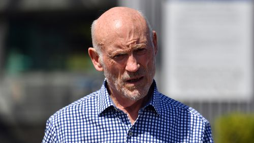 Former NSW Labor minister Ian Macdonald walks out of Long Bay Correctional Complex in Sydney after winning an appeal into misconduct charges.