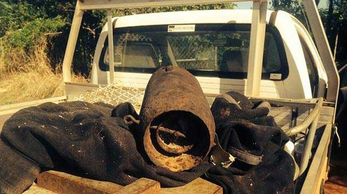 NT man 'shows off' his unexploded WW2 bombs around town