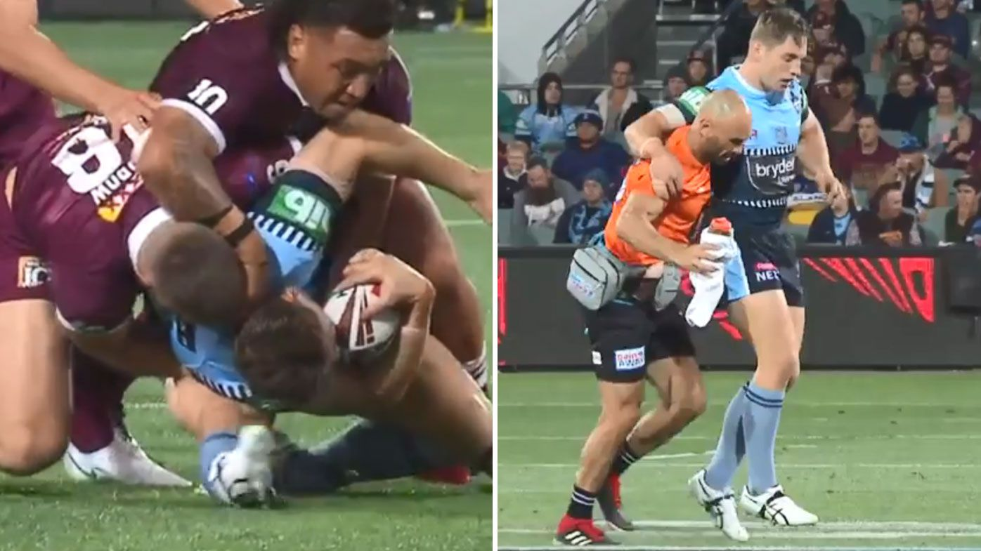 Cameron Murray suffers ugly injury in Origin One, Boyd Cordner sustains head knock