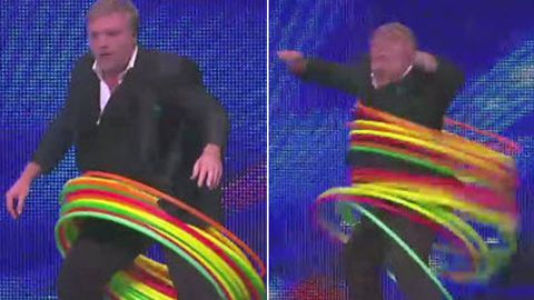 WATCH Kyle Sandilands hula-hooping on <i>Australia's Got Talent</i>… it's as ridiculous as it sounds