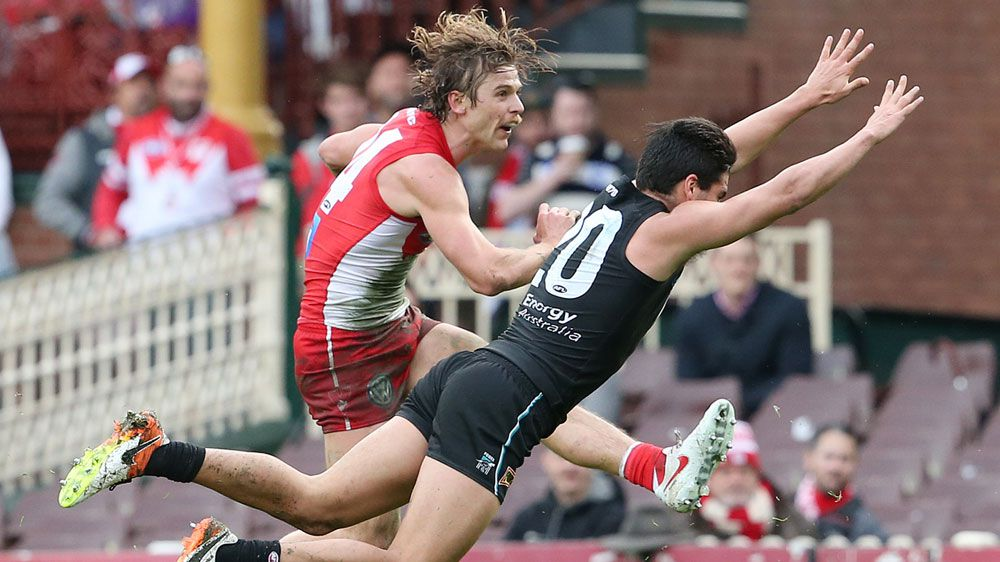 Swans thrash Port by 67 points in AFL