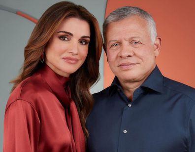 Queen Rania Al Abdullah and His Majesty King Abdullah II.