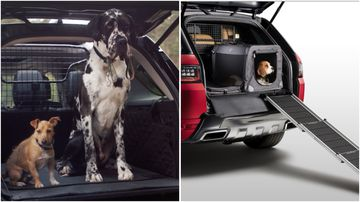 Land Rover have released a range of pet friendly car accessories for comfort and convenience.