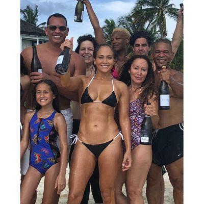 Jennifer Lopez rings in 49 in an itty-bitty bikini