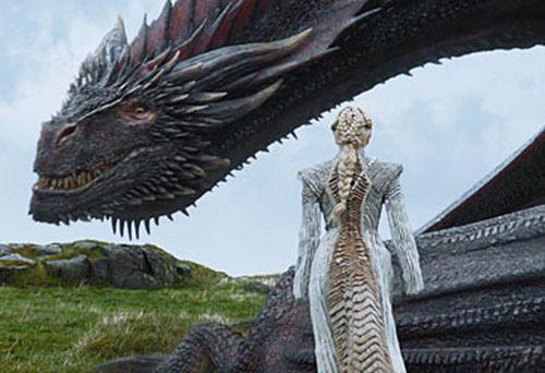 Daenerys Targaryen and dragon (HBO)