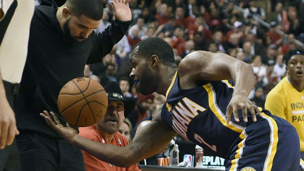 Raptors fan Drake took great delight in Indiana's demise. (AAP)