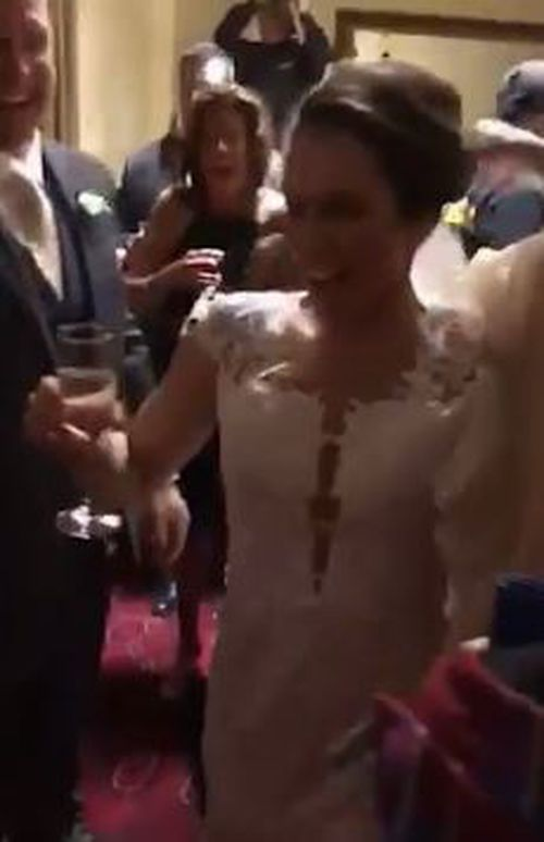 The happy couple were eventually reunited and the festivities could then kick off. (ABC6)