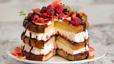 "<a href=""http://kitchen.nine.com.au/2016/05/05/10/08/carolyn-hartzs-sugarfree-vanilla-layer-cake"" target=""_top"">Carolyn Hartz's sugar-free vanilla layer cake</a> recipe - gluten free, low sugar, refined sugar free"