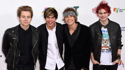 The 5SOS boys made an impression on hundreds of screaming fans at the 28th awards ceremony. (Picture:AAP)
