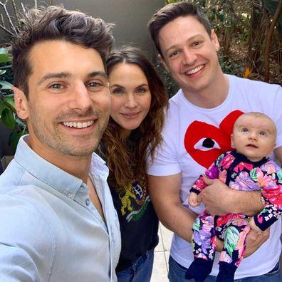 Matty 'J' Johnson, Laura Byrne and Matt Agnew with their baby Marlie-Mae Rose Johnson