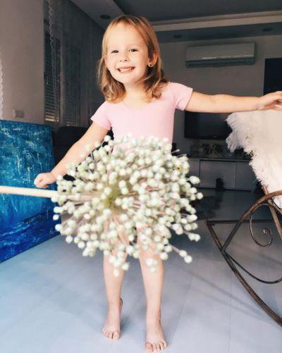 Delicate, white floral.