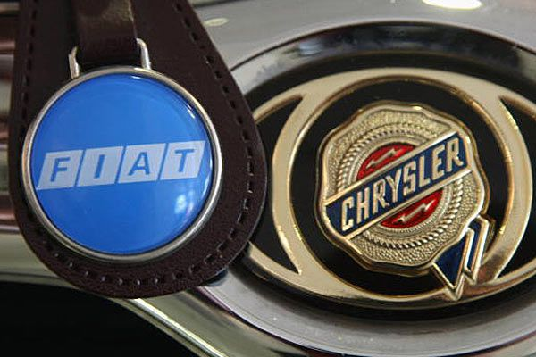 Fiat and Chrysler logos