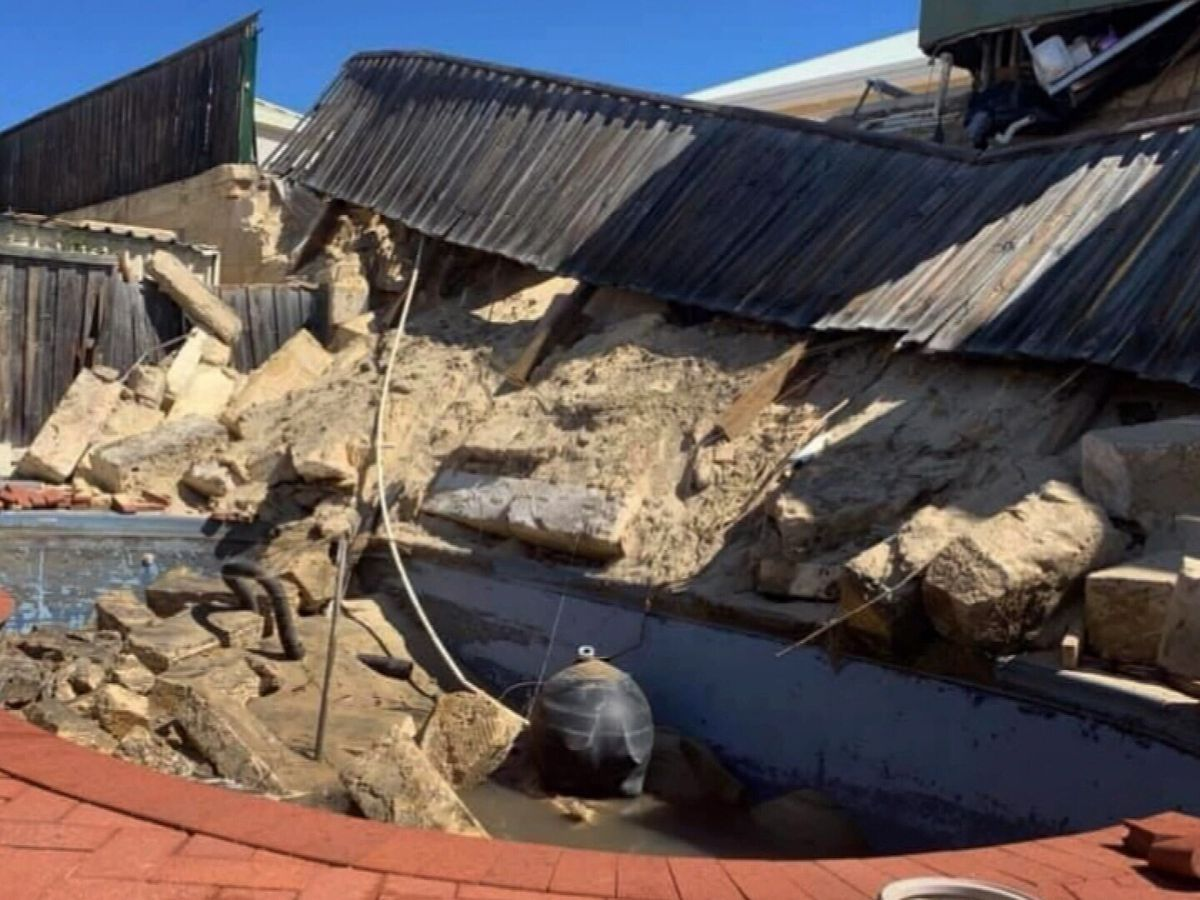Yard 'covered in rubble' for months after retaining wall collapses ...