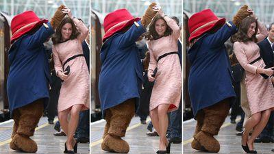 Duchess of Cambridge dances with Paddington Bear
