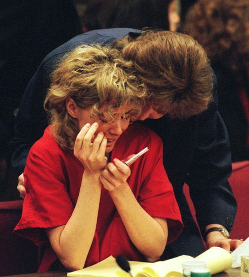Mary Kay LeTourneau breaks down in court. Picture: AAP