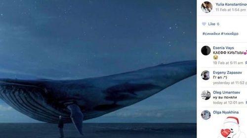 The Blue Whale phenomenon was linked to at least 130 teenage deaths in Russia in 2017. (Image: Supplied)