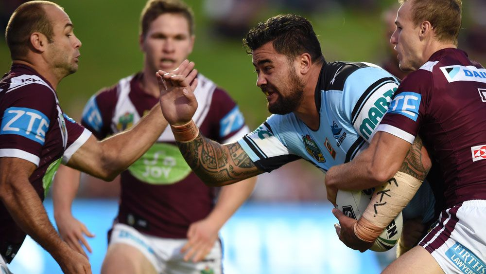 Fifita carries Sharks to top of NRL table
