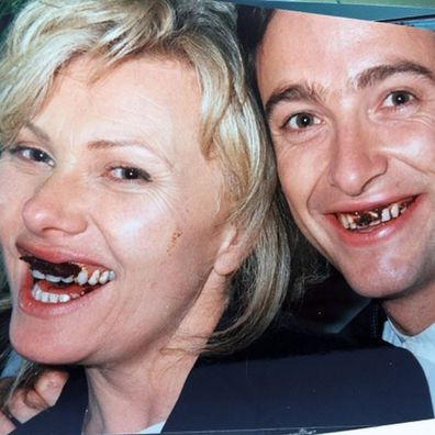 Hugh Jackman and Deborra-Lee Furness throwback photo