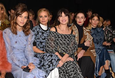 Erdem is a favourite amongst the fashion crowd in particular Alexa Chung, Laura Bailey, Daisy Lowe, Erin O'Connor and Veronika Heilbrunner seen front row for the Erdem show during London Fashion Week 2017.