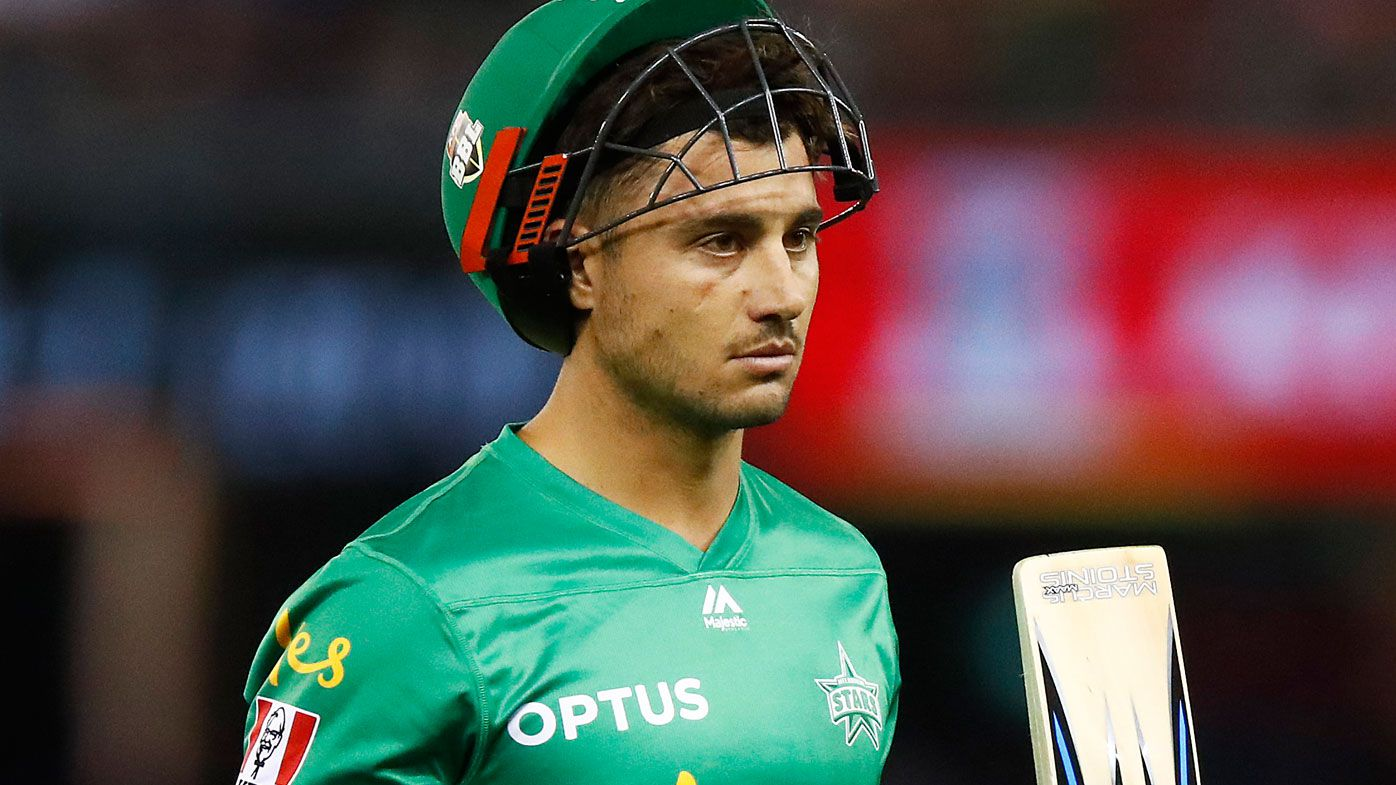Marcus Stoinis of the Stars leaves the field