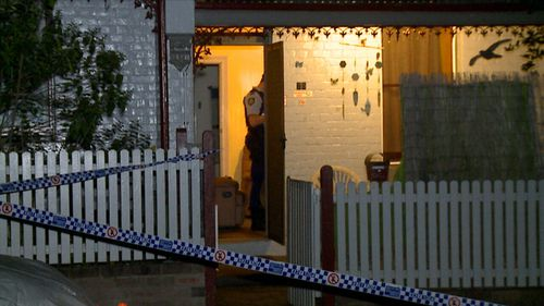 The 73-year-old had followed her cat to the back door of her Glebe terrace when she was attacked.