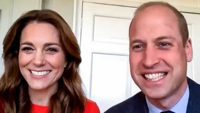 The Duke and Duchess of Cambridge dialling into veterans on VE Day.